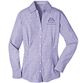 Ladies Wine Steward Plaid Shirt