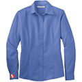 Women's Ultramarine Blue Long Sleeve Twill Shirt