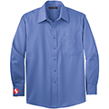 Men's Ultramarine Blue Long Sleeve Twill Shirt