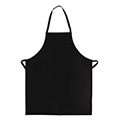 No Pocket Black Vinyl Apron